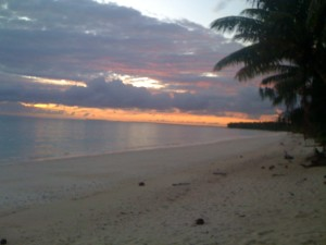 Arno, Marshall Islands at sunrise - one of the most powerful places we have ever practiced qi gong.